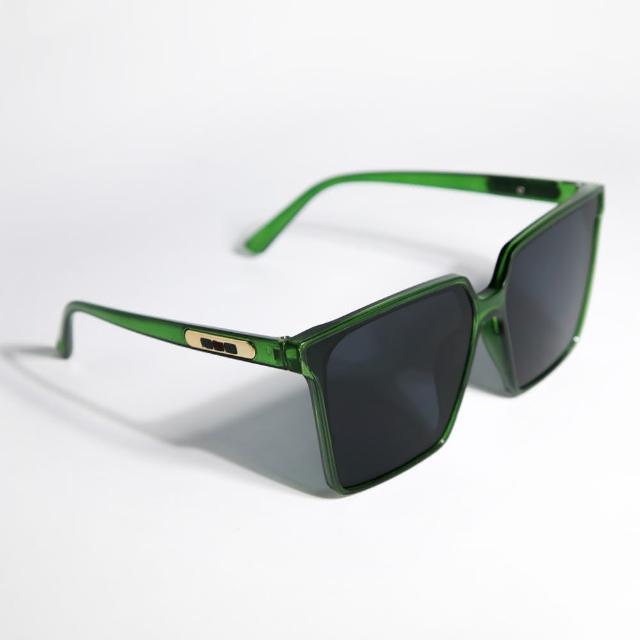 【ZANZAN 冉冉】莫藍迪綠時尚方框墨鏡(太陽眼鏡)