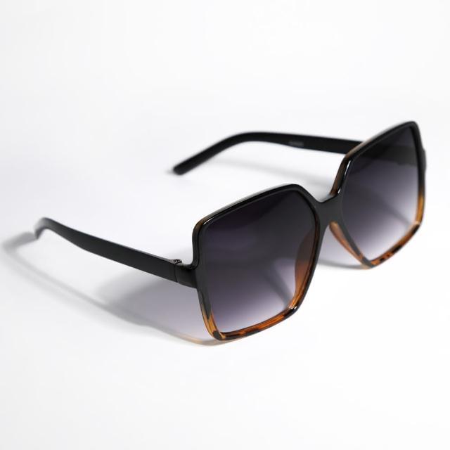 【ZANZAN 冉冉】琥珀紋漸層藍方框墨鏡(太陽眼鏡)