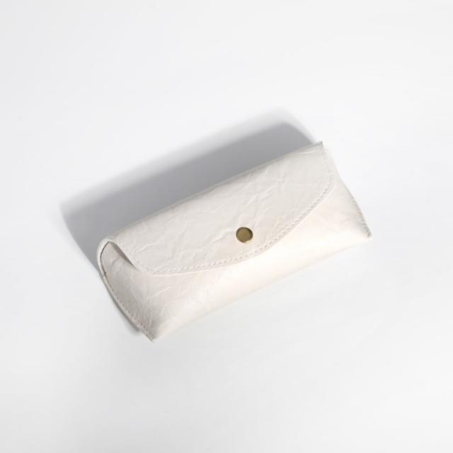 【ZANZAN 冉冉】攜帶型防壓眼鏡盒-米白(眼鏡盒)