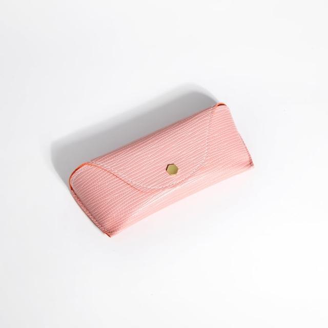 【ZANZAN 冉冉】攜帶型防壓眼鏡盒-粉(眼鏡盒)