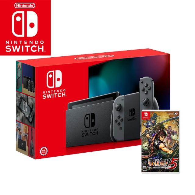 【Nintendo 任天堂】Switch電續加強灰色主機+《戰國無雙5特典版》