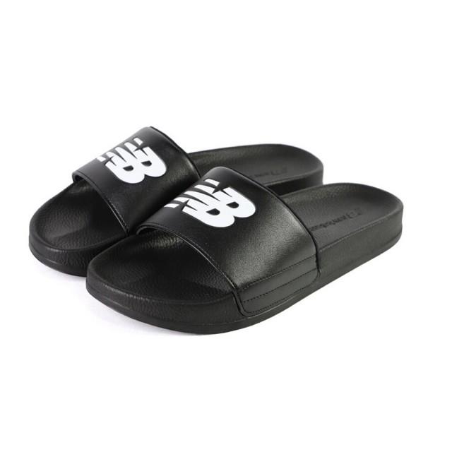 【NEW BALANCE】New balance 皮質涼拖鞋 男女款 NO.SD1101GBK