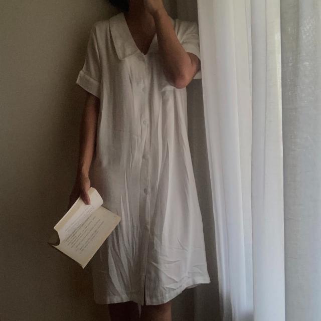 【PizzaCutFive】襯衫領口袋短洋裝/睡衣/居家服(居家必備:好眠睡衣)