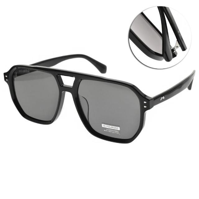 【MOLSION 陌森】偏光太陽眼鏡 肖戰代言 時尚復古方框 變色鏡片(黑-灰#MS3019 C10)