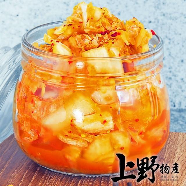 【上野物產】獨家醬醃黃金泡菜 x8包(100g±10%/固體物80g/包)
