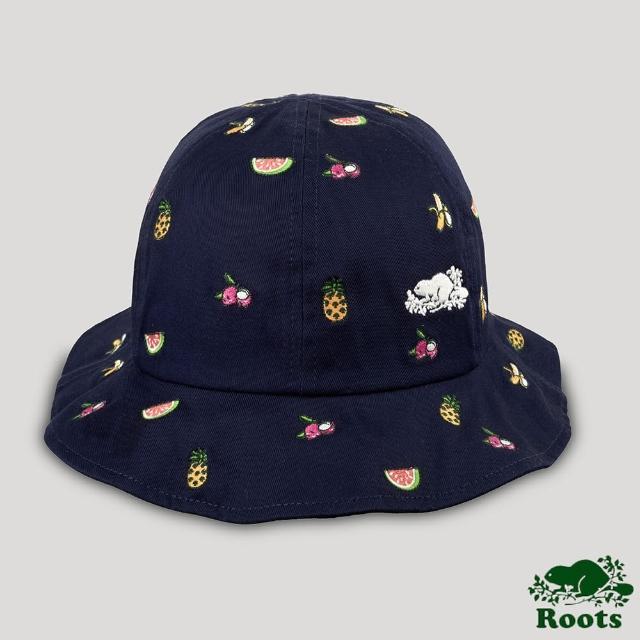 【Roots】Roots配件-台灣日系列 水果印花漁夫帽(藍色)
