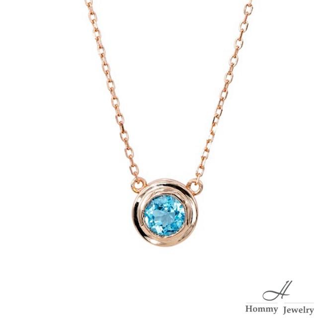 【幸福珠寶】『沙的秘密』天然5A頂級托帕石極簡細膩設計款項鍊