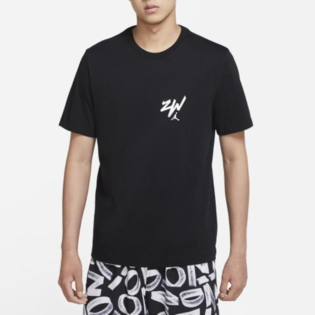 【NIKE 耐吉】上衣 男款 短袖上衣 運動 慢跑 健身 AS M J ZION SS TEE 黑 DM4032-010