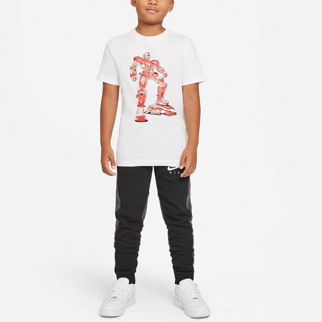 【NIKE 耐吉】上衣 男童 大童 短袖上衣 運動 B NSW TEE SHOE TRANSFORMER 白 DJ6689-100