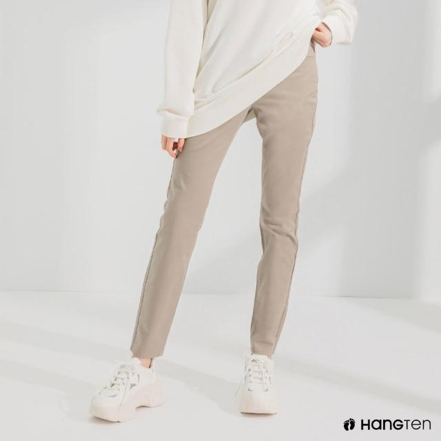 【Hang Ten】女裝-經典款-SLIM FIT五袋款長褲-卡其色