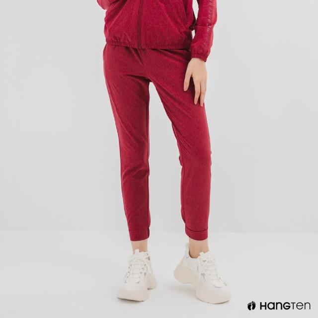 【Hang Ten】女裝-恆溫多功能-REGULAR FIT標準四向彈力吸濕快乾抗曬運動長褲-紫紅色