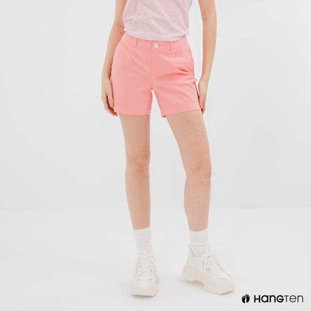 【Hang Ten】女裝-REGULAR FIT經典短褲-淺粉