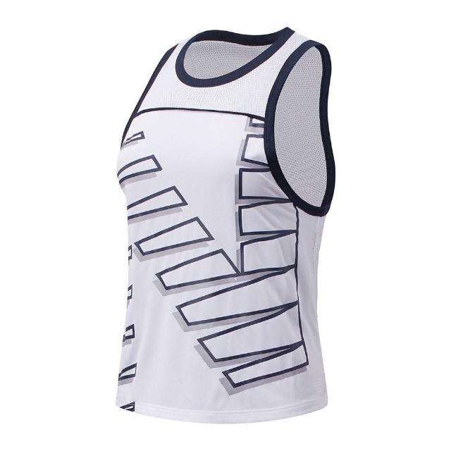 【NEW BALANCE】背心 女款 運動背心 慢跑 健身 Ice運動背心 白 AWT11239WT