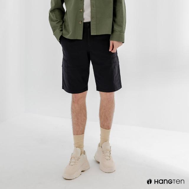 【Hang Ten】男裝-REGULAR FIT口袋短褲-深藍