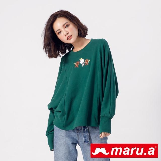 【maru.a】薑餅人與Miru連袖上衣(深綠)