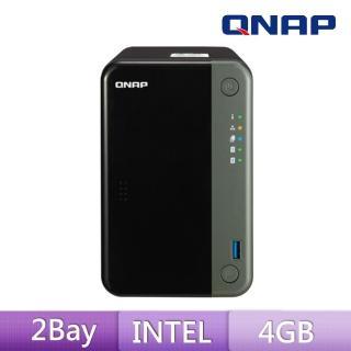 【搭WD 紅標 4TB x2】QNAP 威聯通 TS-253D-4G 2Bay 網路儲存伺服器
