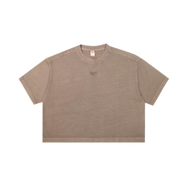 【REEBOK】圓領T恤 短袖 CL RBK ND CROPPED T-SHIRT 女-GN4598