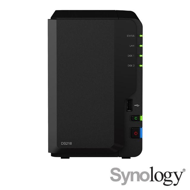 【搭WD 紅標 4TB x2】Synology 群暉科技 DS218 2Bay網路儲存伺服器