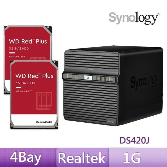 【搭WD 紅標 4TB x2】Synology 群暉科技 DS420j 網路儲存伺服器