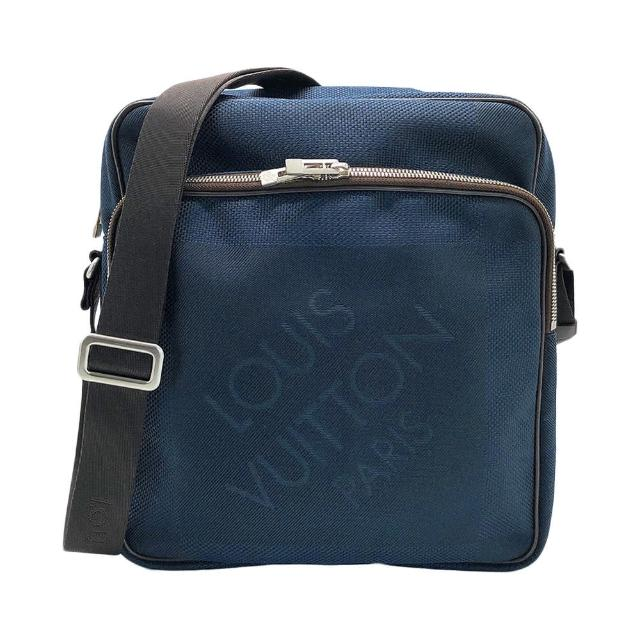 【Louis Vuitton 路易威登】帆布拉鍊子母斜背包(N41159-深藍)