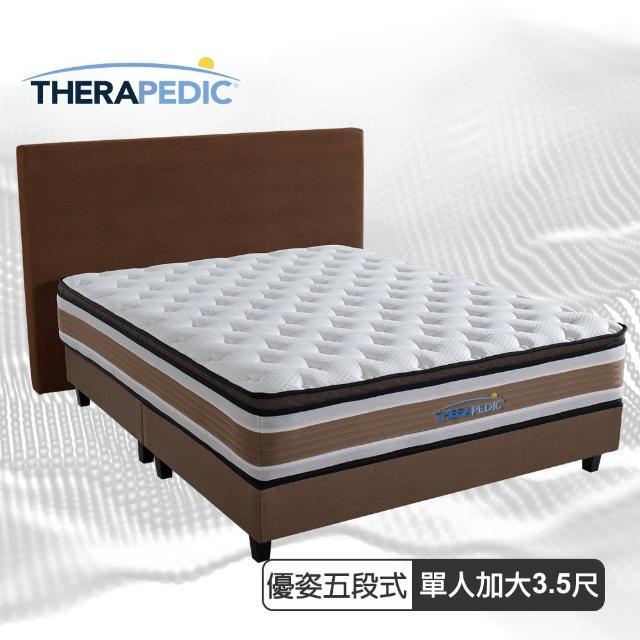 【Therapedic 沛迪醫生】沛迪醫生Therapedic 優姿五段獨立筒三線護脊彈簧床墊單人3.5尺(比利時超微天絲)