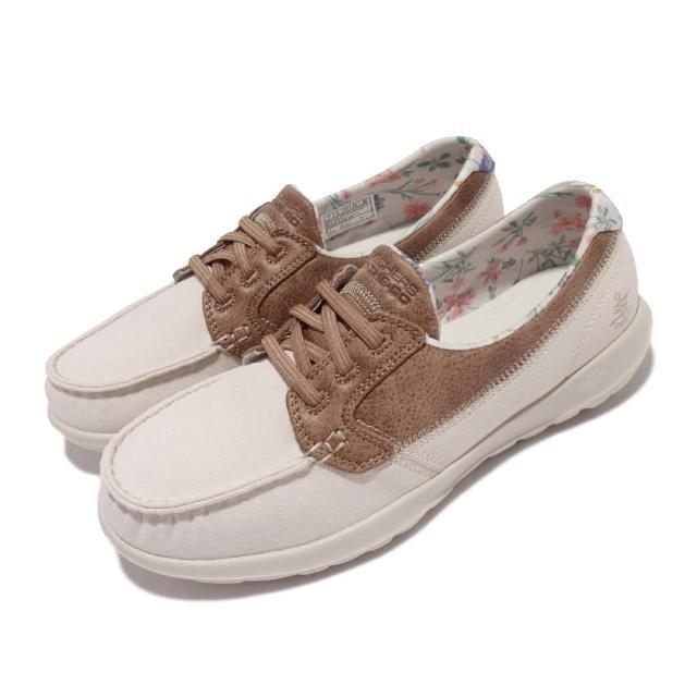 【SKECHERS】休閒鞋 Go Walk Like 帆船鞋 女鞋 郊遊 踏青 健走 好穿脫 輕量 緩震 淺褐 棕(136098-TPE)