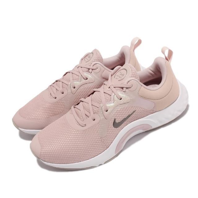【NIKE 耐吉】訓練鞋 Renew In Season TR 女鞋 寬楦 健身房 支撐 穩定 包覆 球鞋 粉 白(DN5116-600)