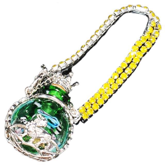 【十方佛教文物】貔貅{綠}香水瓶法寶掛飾