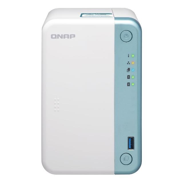 【送8埠 Giga交換器】QNAP 威聯通 TS-251D-4G 2BAY 網路儲存伺服器