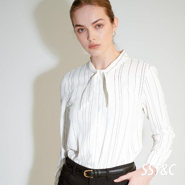 【SST&C】白色蝴蝶結條紋上衣7662103001