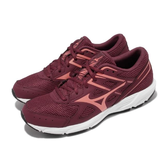 【MIZUNO 美津濃】慢跑鞋 Spark 6 運動休閒 女鞋 美津濃 路跑 緩震 透氣網布 基本款 紅 白(K1GA2104-63)