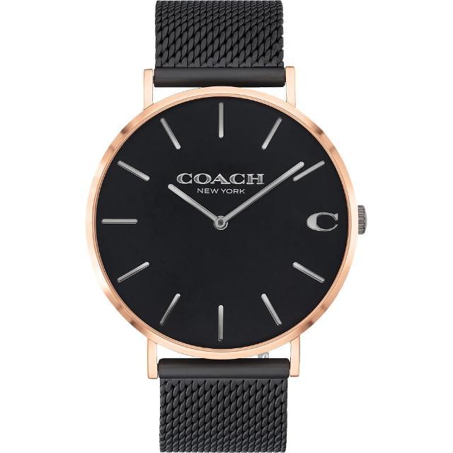 【COACH】經典C字Logo米蘭手錶-41mm(14602470)