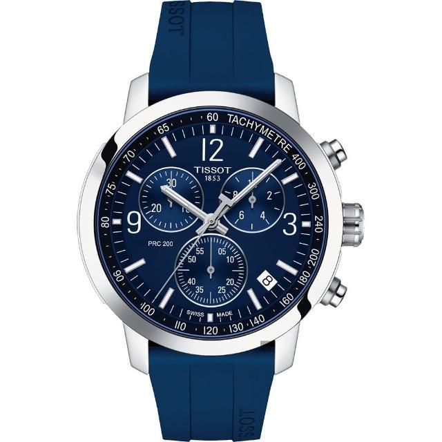 【TISSOT 天梭】T-Sport系列 PRC200 競速三眼計時腕錶(T1144171704700)
