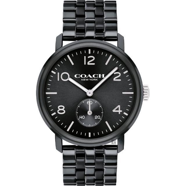 【COACH】時尚小秒盤紳士手錶-42mm(14602531)