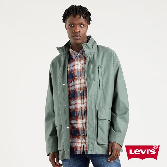 【LEVIS】男款 長版軍裝夾克 / 機能系大口袋設計 / 橄欖綠-人氣新品