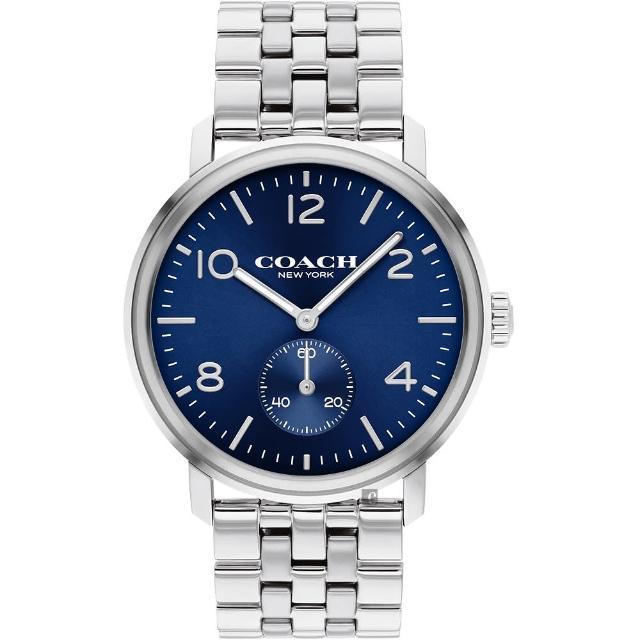 【COACH】時尚小秒盤紳士手錶-42mm(14602532)