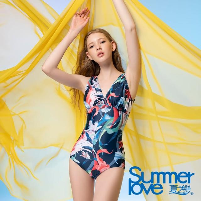 【Summer Love 夏之戀】泳裝 大女連身三角泳衣(E21711)