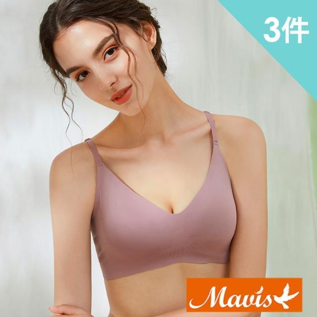 【Mavis 瑪薇絲】裸感親膚無痕無鋼圈內衣(3件組)