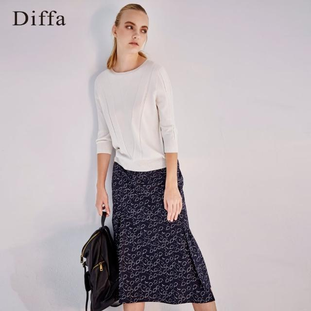 Diffa【Diffa】塗鴉風印花不規則裙