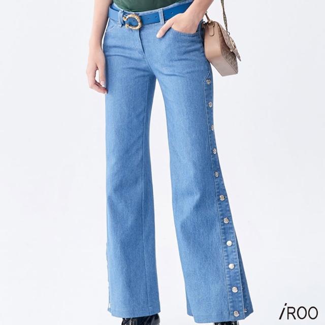 【iROO】牛仔喇叭褲