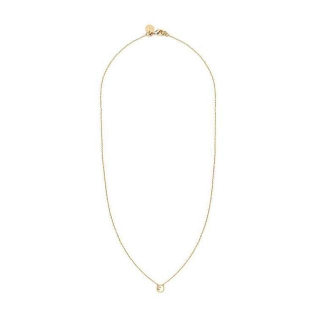 【Dinner collection】小圈水晶點綴金項鍊