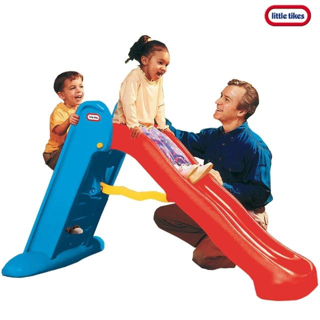 【Little Tikes】遊戲大滑梯-紅藍(可折疊收納滑梯)