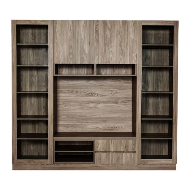 【Arkhouse】伯利恆系列-客廳電視收納展示plus視聽櫃W240*H218*D50