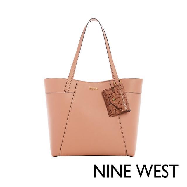 【NINE WEST】SUNNYSIDE大容量肩背托特包-蜜桃粉(118623)