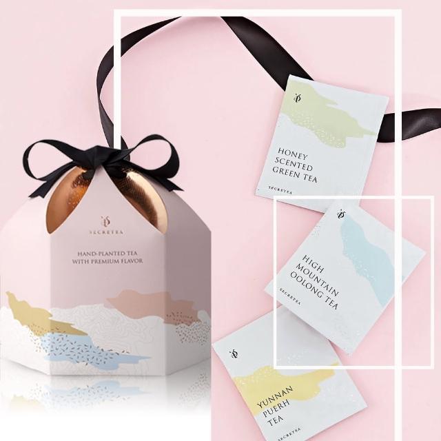 【小葉覓蜜】茶包五件超值組D 蜜香紅茶 綠茶 可可普洱茶 高山烏龍茶20入*5盒(超值組)