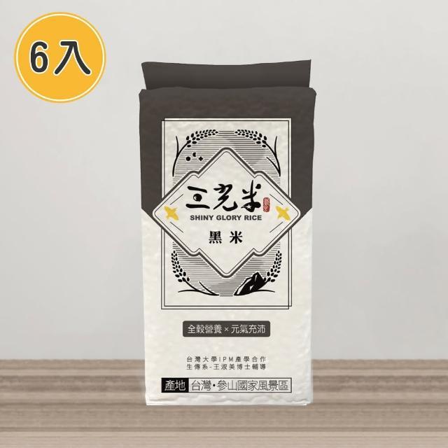 【sgrice 三光米】黑米600g-6入(花青素爆表 免浸泡更方便)