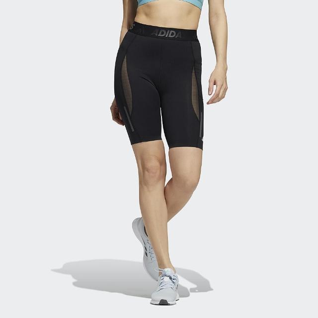 【adidas 愛迪達】短褲 女款 運動 健身 慢跑 緊身褲 TF H.RDY SHRT T 黑 GR8241