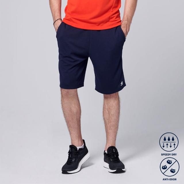 【BATIS 巴帝斯】抗菌棉質運動短褲 - 男 - 兩色(丈青 黑)