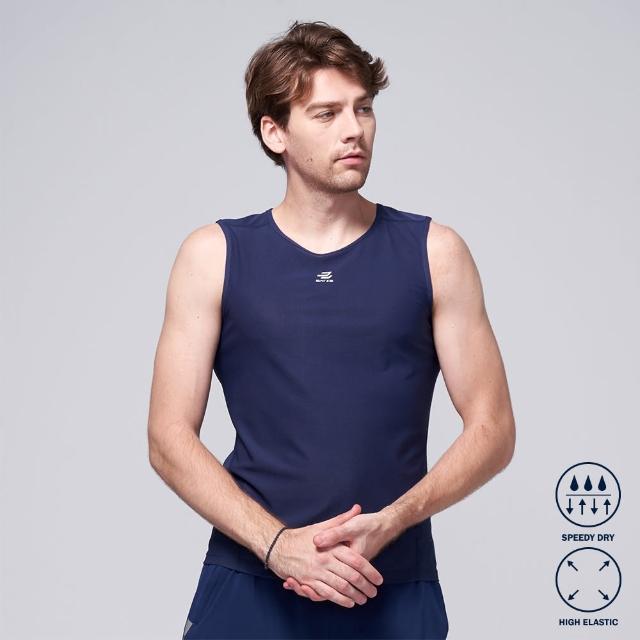 【BATIS 巴帝斯】吸濕排汗透氣運動背心 - 男 - 兩色(丈青 鐵灰)