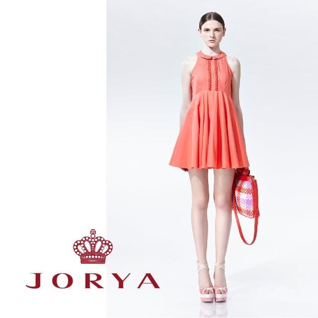 【JORYA】weekendH2202705優雅領花邊露肩無袖連身洋裝